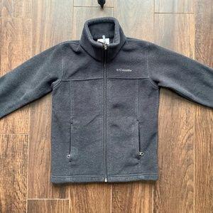 Boys Columbia Full Zip Black Fleece Jacket | XS